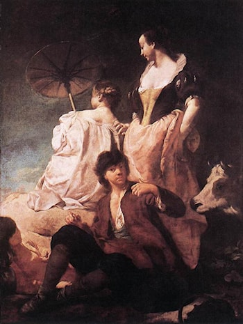 Idyll at the Coast by Giovanni Battista Piazzetta