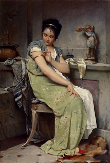 The Amulet by Auguste Emile Pinchart