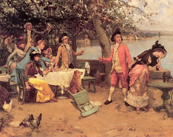 The Toast by Auguste Emile Pinchart