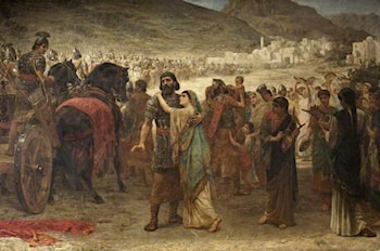Jephthah's Vow: The Return by Edwin Longsden Long