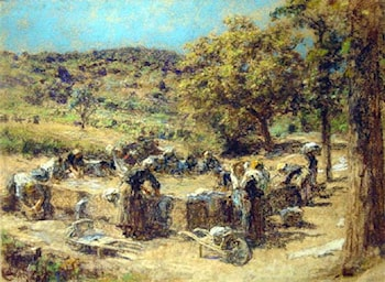 Washday by Leon-Augustin L'hermitte
