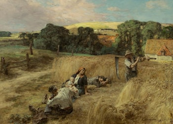 A Rest from the Harvest by Leon-Augustin L'hermitte