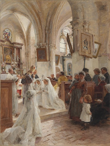 La Confirmation by Leon-Augustin L'hermitte
