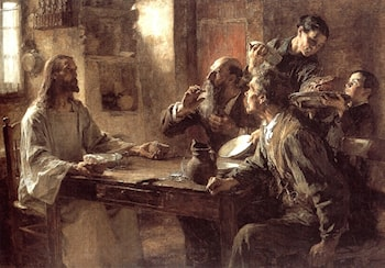 Supper at Emmaus by Leon-Augustin L'hermitte