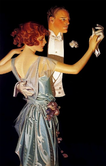 Man and Woman Dancing by Joseph Christian Leyendecker