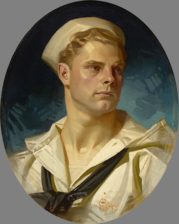 Portrait of an American Sailor, Charles Beach by Joseph Christian Leyendecker