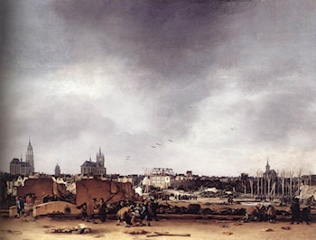 View of Delft after the Explosion of 1654 by Egbert van der Poel