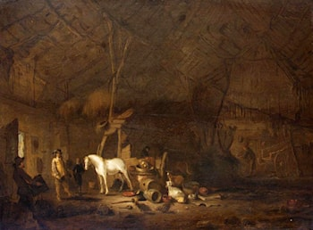 Barn Interior by Egbert van der Poel