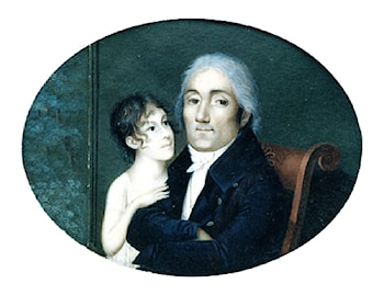 Portrait of a Gentleman and his Daughter by Francois M. Guyol de Guiran
