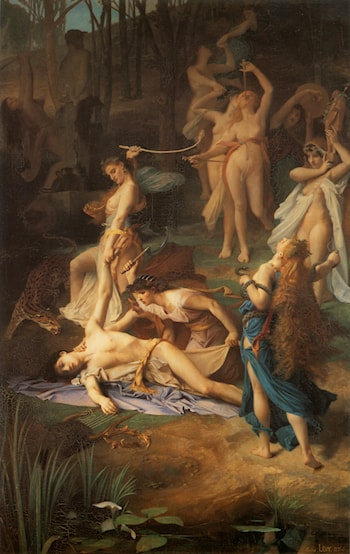 Death of Orpheus by Emile Levy