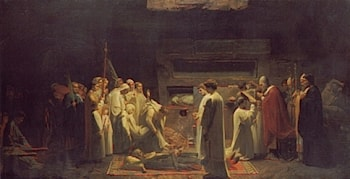 The Martyrs in the Catacombs by Jules Eugene Lenepveu