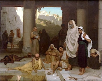 The Blind Man at the Pool of Siloam by Edmund Blair Leighton