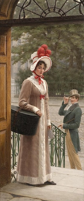 Delivering the New Hat by Edmund Blair Leighton