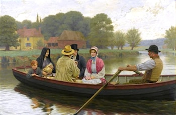 The Ferry by Edmund Blair Leighton