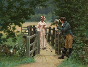 The Gallant Suitor by Edmund Blair Leighton