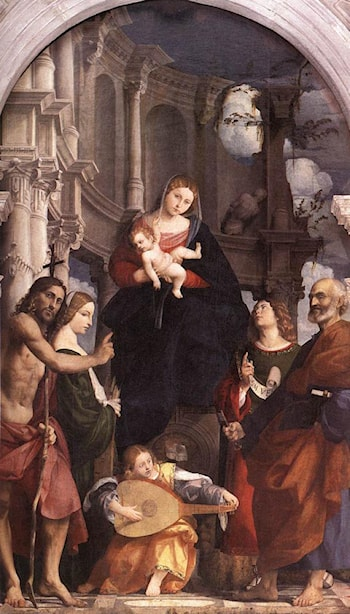 Madonna and Child Enthroned with Saints by Pordenone