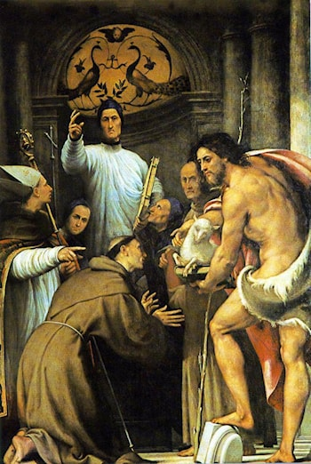 St Lorenzo Giustiniani and Other Saints by Pordenone