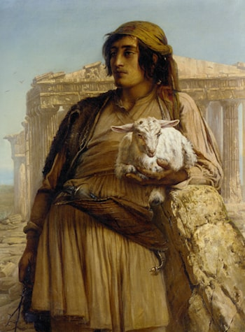 A Shepherd Boy Standing Before the Pantheon by Elisabeth Baumann
