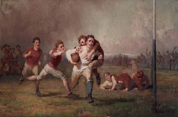 Football Will He Do It? by George Elgar Hicks