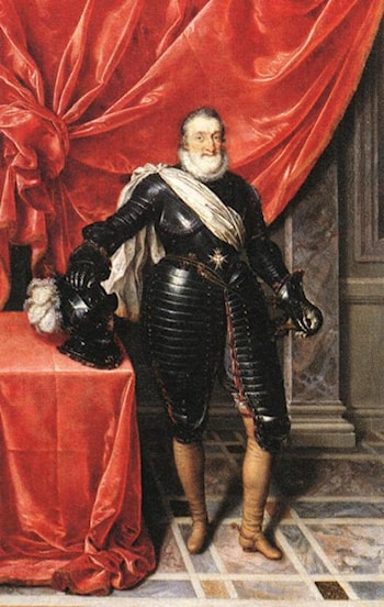 Henry IV, King of France in Armour by Frans Pourbus the Younger
