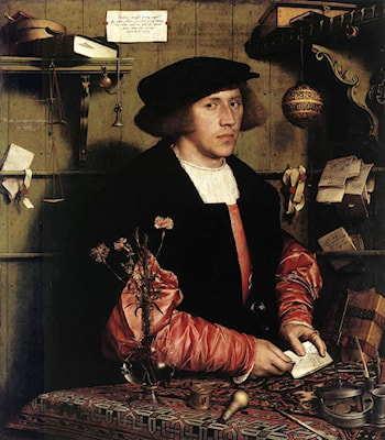 Portrait of the Merchant Georg Gisze by Hans Holbein
