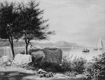 Weehawken from Turtle Grove by William James Bennett