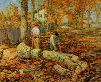 Lumbering by Childe Hassam