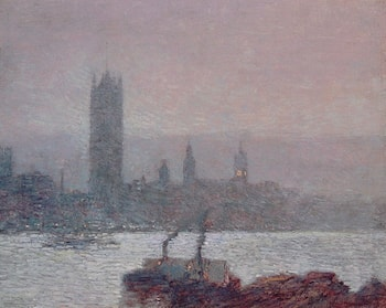 Houses of Parliament, Early Evening by Childe Hassam