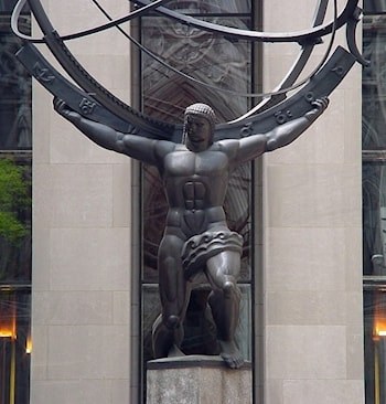 Atlas with Armillary by Lee Lawrie