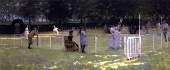 The Tennis Party by John Lavery