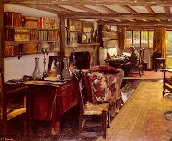 A Writing Room At The Wharf, Sutton Courtenay by John Lavery