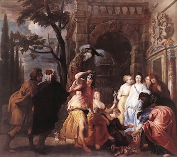 Achilles among the Daughters of Lycomedes by Erasmus Quellin II