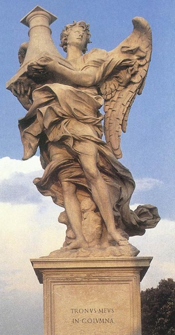 Angel with the Column (front view) by Antonio Raggi