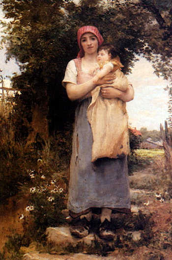 A Mother Holding Her Child by Georges Laugee