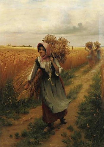 Bringing in the Harvest by Georges Laugee