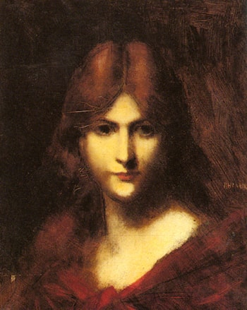 A Red­haired Beauty by Jean-Jacques Henner