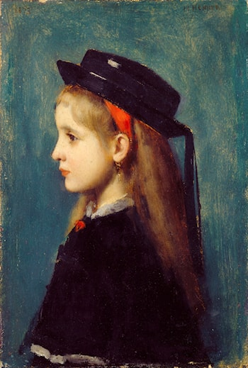 Alsatian Girl by Jean-Jacques Henner