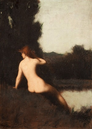 A Bather by Jean-Jacques Henner