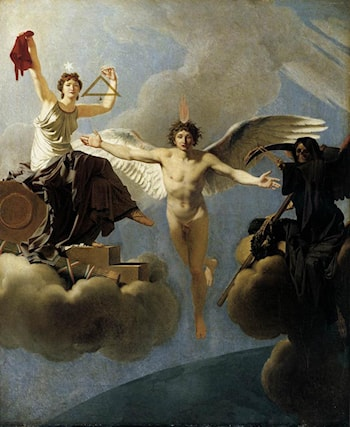 The Genius of France between Liberty and Death by Jean-Baptiste Regnault