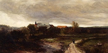 Before The Rain: The Monastry Santa Clara Near Wiesbaden by Johannes Warnardus Bilders