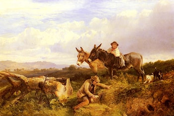 Ferreting In Surrey by George Cole, Snr.