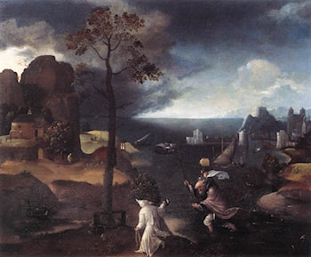 St Christopher Bearing the Christ Child by Joachim Patenier (Patinir)