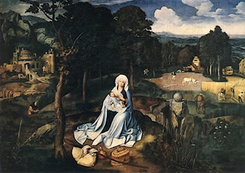 Rest during the Flight to Egypt by Joachim Patenier (Patinir)