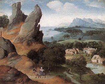 Landscape with the Flight into Egypt by Joachim Patenier (Patinir)