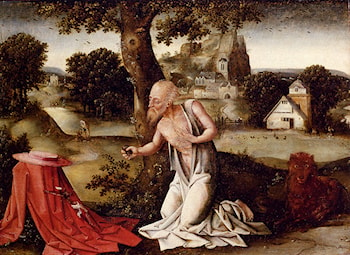 Landscape With The Penitent Saint Jerome by Joachim Patenier (Patinir)