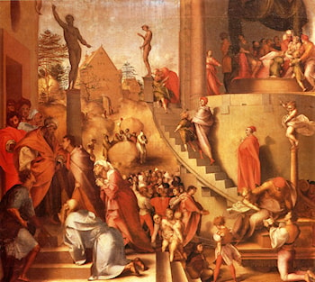 Joseph With Jacob In Egypt by Jacopo Pontormo