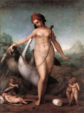 Leda and the Swan by Jacopo Pontormo