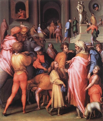 Joseph Being Sold to Potiphar by Jacopo Pontormo