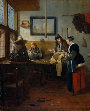 The Tailor's Workshop by Quiringh Gerritsz. van Brekelenkam