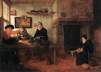 Interior of a Tailor's Shop by Quiringh Gerritsz. van Brekelenkam